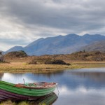 Boat at the Killarney lake in Co. Kerry, Ireland