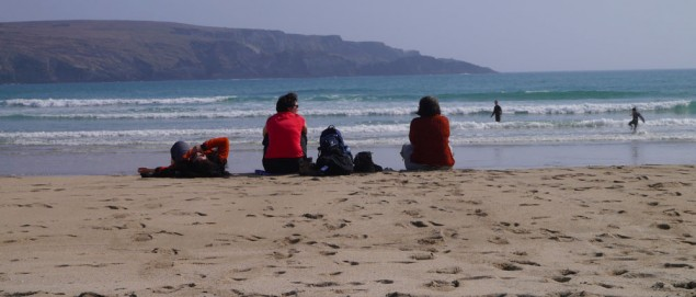 Am Strand in Irland