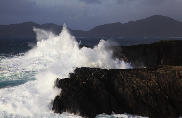 Stormy Sea at Garinish Harbour near Allihies in County Cork